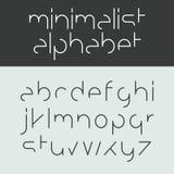 Minimalist alfabet Arkivfoton