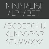 Minimalist alphabet Royalty Free Stock Photography