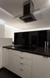 Minimalist apartment - cooker Royalty Free Stock Photography