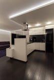 Minimalist apartment - kitchen Royalty Free Stock Images