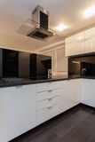Minimalist apartment - kitchen counter Stock Images