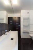 Minimalist apartment - bathroom. Minimalist apartment - small but well-developed bathroom Stock Photography