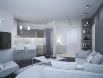 Minimalist apartment studio Stock Photo