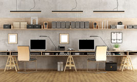 Minimalist architectural office Royalty Free Stock Photos