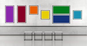 Minimalist art gallery Royalty Free Stock Photo