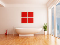 Minimalist bathroom Stock Image