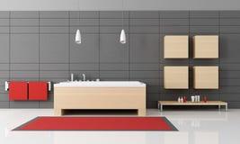 Minimalist bathroom stock image