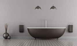 Minimalist bathroom Stock Photography