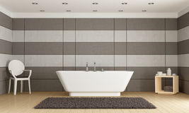 Minimalist bathroom with bathtub Royalty Free Stock Photography
