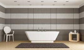 Minimalist bathroom with bathtub Royalty Free Stock Photography