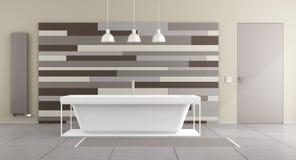 Minimalist bathroom with bathtub Royalty Free Stock Images