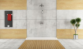 Minimalist bathroom with shower Royalty Free Stock Image