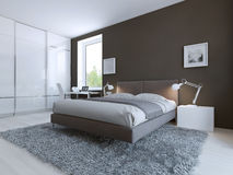 Minimalist bedroom for good rest Royalty Free Stock Photos