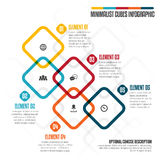 Minimalist berechnet Infographic Lizenzfreie Stockbilder