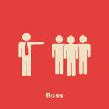Minimalist Boss Concept Royalty Free Stock Images