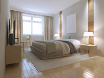 Minimalist brown bedroom trend Royalty Free Stock Photography