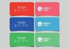 Minimalist Business Name Card Design Subtle Polka Dot Pattern Ba Stock Photos