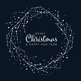 Minimalist Christmas flyer/card template stock illustration