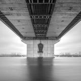 Minimalist cityscape with the bridge Royalty Free Stock Image