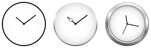 Minimalist Clocks Royalty Free Stock Photo