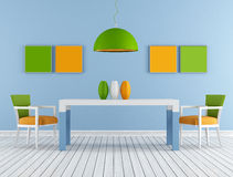 Colorful modern diningroom Royalty Free Stock Image