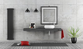Minimalist concrete bathroom Royalty Free Stock Images