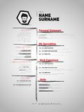 Minimalist CV, resume template Royalty Free Stock Photography