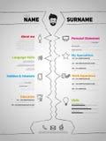 Minimalist CV, resume Stock Images