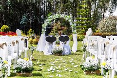 Minimalist decoration for a beautiful wedding Royalty Free Stock Photos