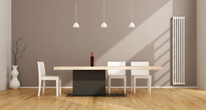 minimalist dining room stock photography - image: 19090452