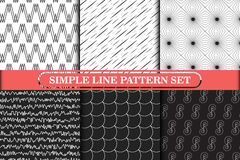 Minimalist, einfache Linie geometrische nahtlose Modellserie Stockfotografie
