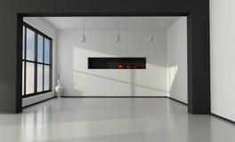 Minimalist empty interior vector illustration