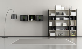 Minimalist empty livingroom Stock Images