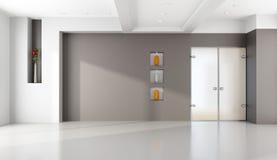 Minimalist empty lounge Stock Photography