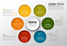 Minimalist färgrik Infographic för vektor mall royaltyfri illustrationer