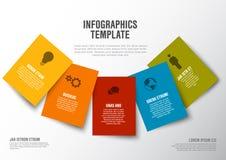 Minimalist färgrik Infographic för vektor mall Royaltyfri Bild