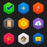 Minimalist flat icons E Royalty Free Stock Image