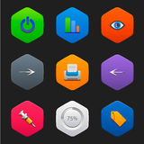 Minimalist flat icons F Stock Images