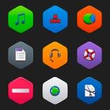 Minimalist flat icons G Stock Photography