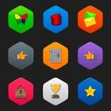 Minimalist flat icons H Stock Images
