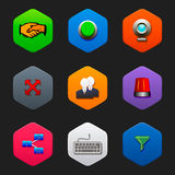 Minimalist flat icons J Royalty Free Stock Photos