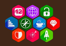 Minimalist flat icons 6 Royalty Free Stock Photography