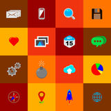 Minimalist flat icons 01 Royalty Free Stock Images