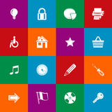 Minimalist flat icons 034 Stock Photos