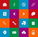 Minimalist flat icons 05 Royalty Free Stock Photos