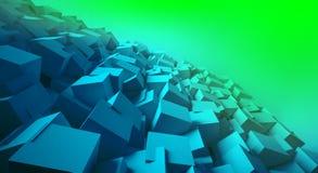Minimalist, fondo abstracto con los cubos, luz de neón libre illustration