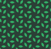 Minimalist green leaves pattern Royalty Free Stock Photography