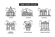 Icon Rome flat vector illustration