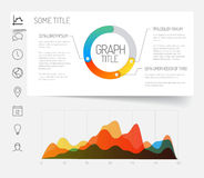 Minimalist infographic dashboard template Stock Photo