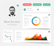 Minimalist infographic dashboard template Royalty Free Stock Image